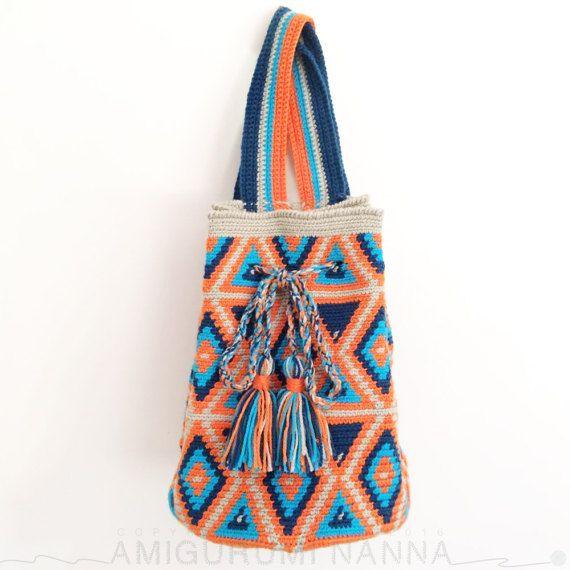 Wayuu Bag  Crochet Bag  Yarn Backpack  Wayuu by AmigurumiNanna