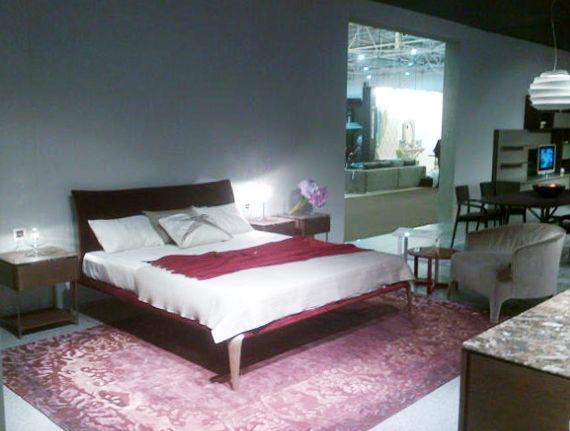 Interior Mebel - Kiev 2014.  Margareth bed, Lindo bedside unit and Opera armchair