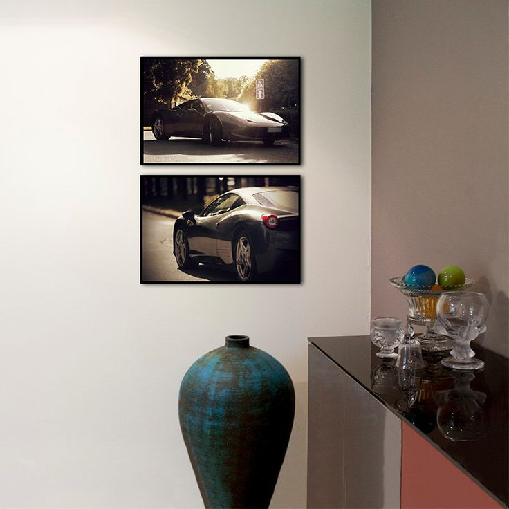 Set of 2 prints/Ferrari car photography/large art home decor/gallery wall set/nursery art/car decor/boys room decor/car print/Ferrari poster by PHOTOFORWALL on Etsy