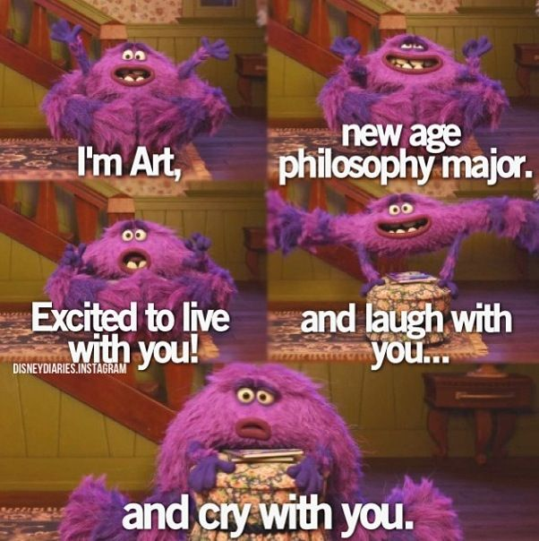 monster's university. art is definitely my favorite thing ever. #can'tgobacktojail