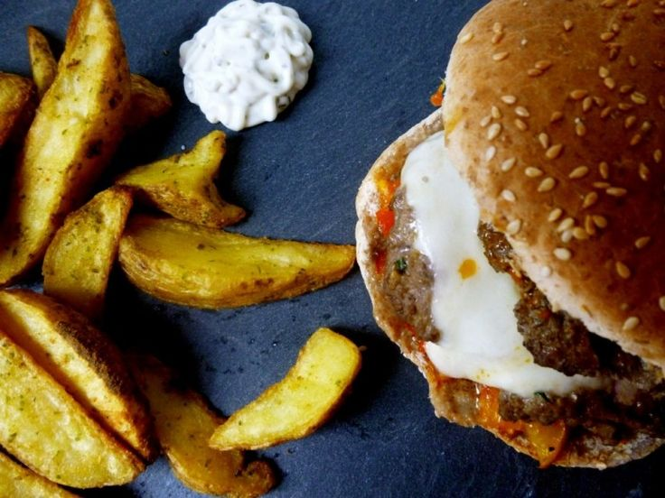 Hamburger sauce poivrons