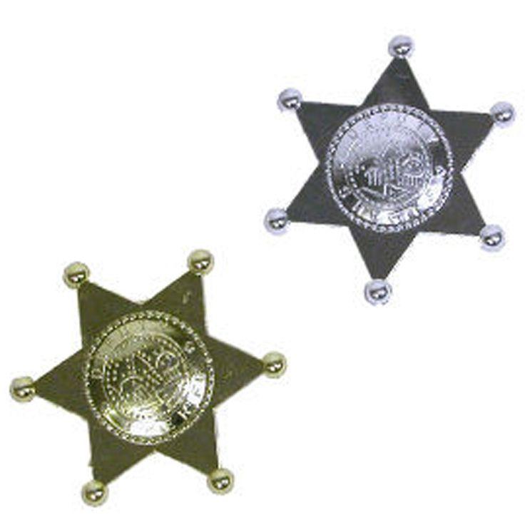 Plastic Sheriff Badge 1 Pc | Balli Gifts