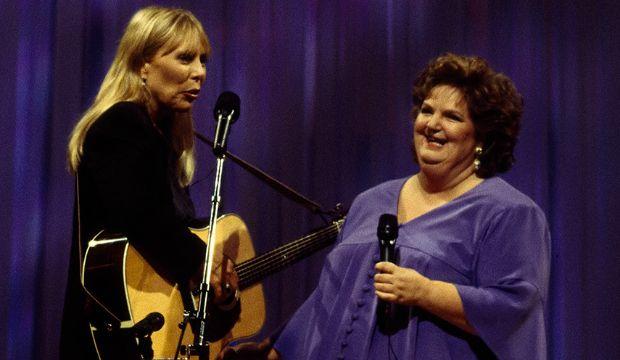 "Joni Mitchell performs with Rita MacNeil on ""Rita and Friends"", originally broadcast on  November 18, 1994"