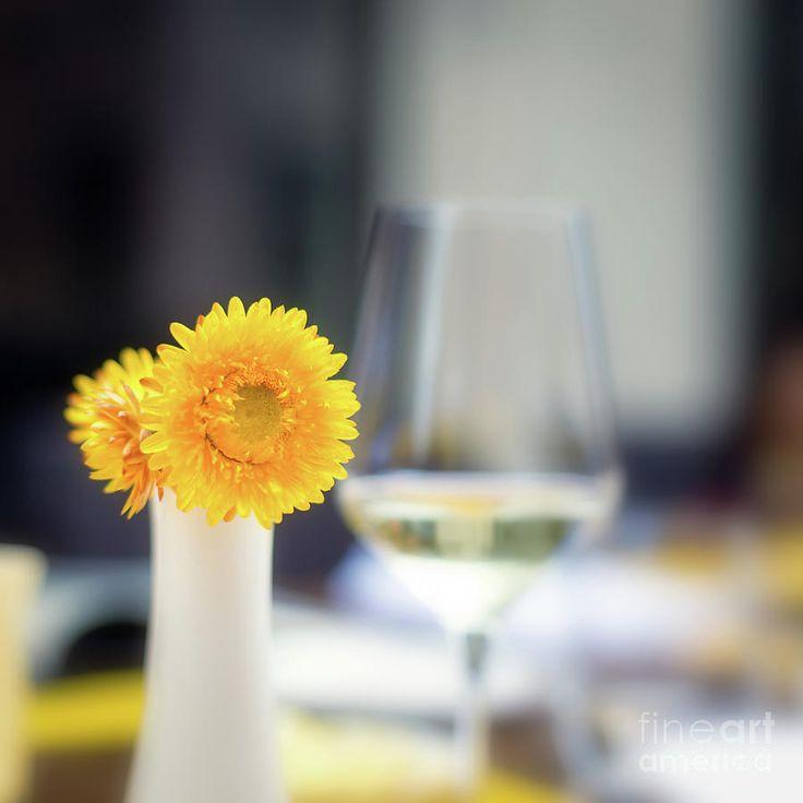 Lunch Outdoor by Ekaterina Molchanova  #EkaterinaMolchanova #molchanovaphoto #drink #fineartprints #homedecor #artforhome #restaurant #flower