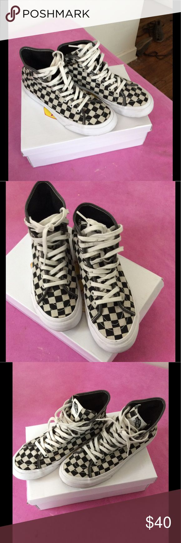 Checkered sk8 hi vans Sk8-hi checkered vans Vans Shoes Sneakers