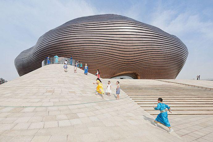 Le cabinet d'architecture MAD a réalisé le musée de la ville d'Ordos, en Mongolie