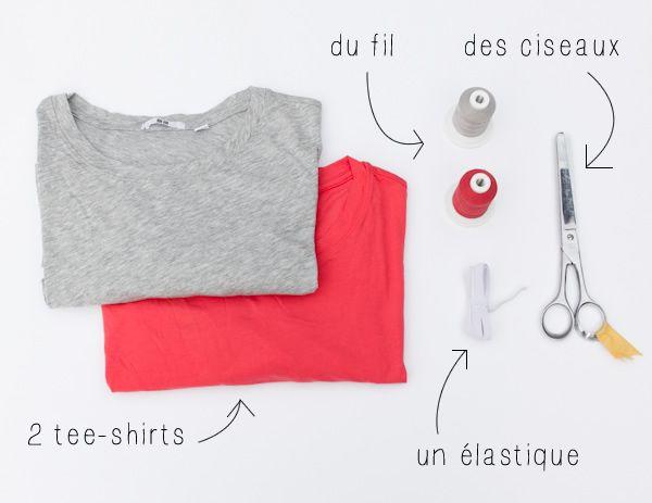 DIY : une robe de plage bicolore express