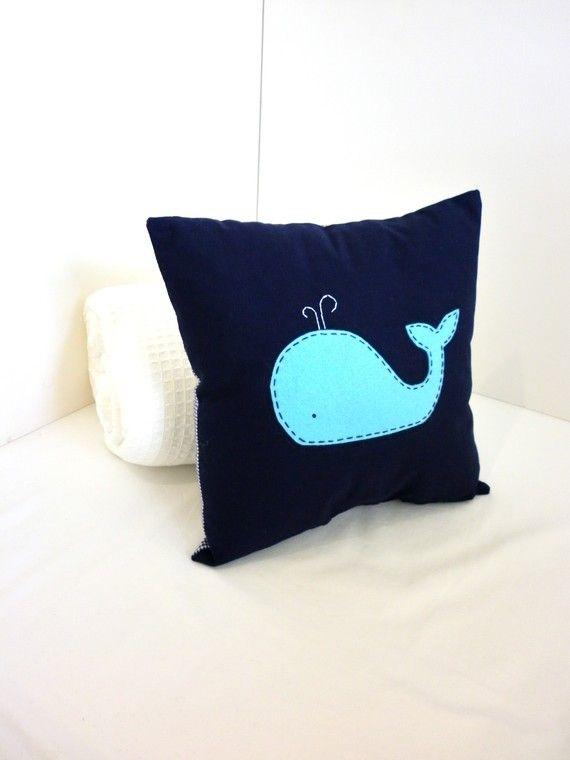 Felt Whale Pillow aka frat kids pillow
