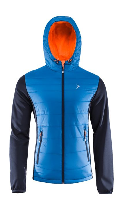Jacket made of a two-layer breathable material, where the inner layer is thermally active. Bionic Eco Finishing provides increased levels of fabric breathability and moisture protection. Trendy colors and high functionality make the jacket ideal for both hiking in the mountains and going out with friends.   Benefits: -two side pockets -integrated hood which protects from the cold -additional softshell fabric -inner wallet pocket
