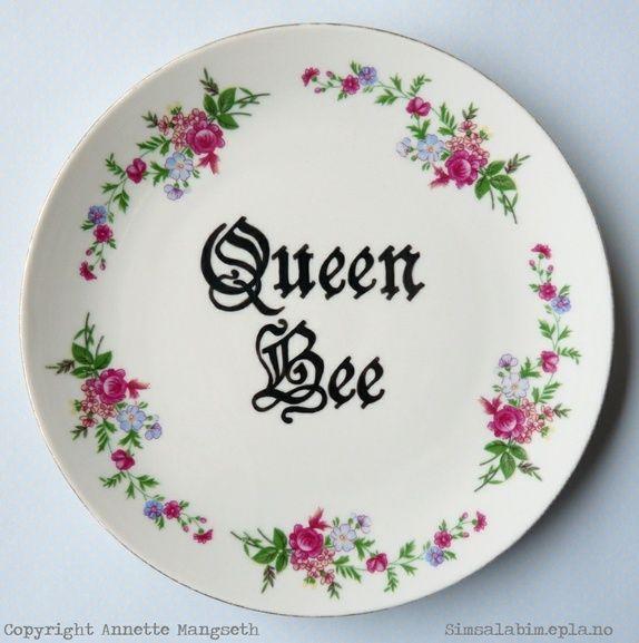 Queen Bee - Pyntetallerken