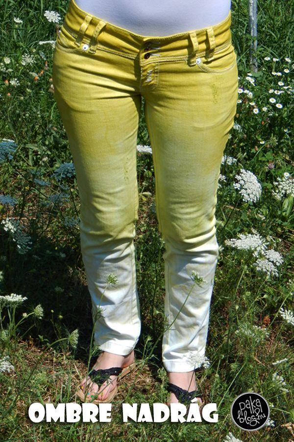 ombre pants diy