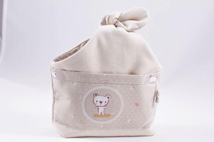 Sac noué vide poche écru et beige pour enfants : Chambre d'enfant, de bébé par timounalily
