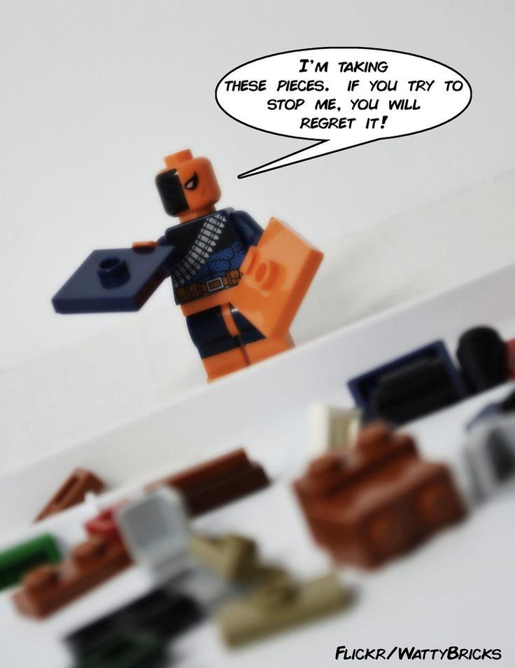 Lego Deathstroke http://www.flickr.com/photos/wattybricks/28472396035/