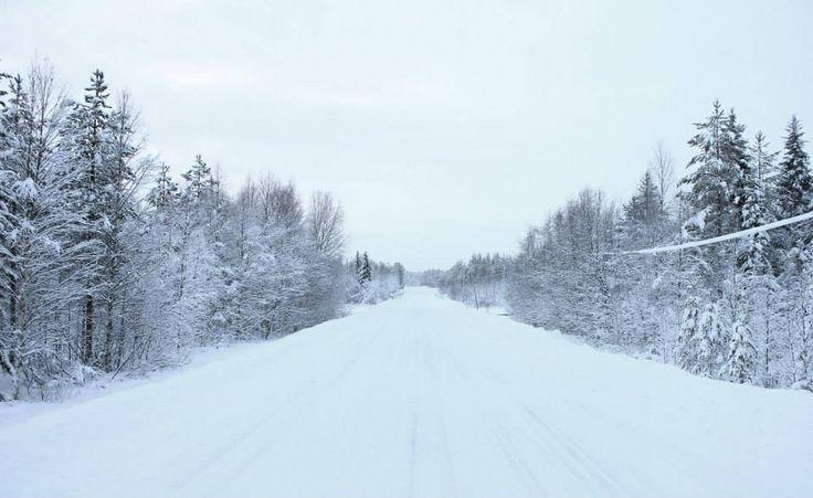 Snowy roads in Finland :) Love snow!