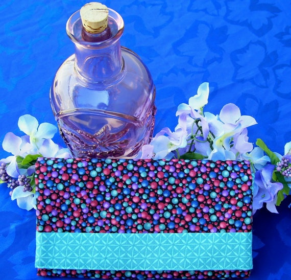 SOLD Trifold Fabric Clutch Wallet  With Colorful by SpiritPenny, $33.00  SOLD Thank You!