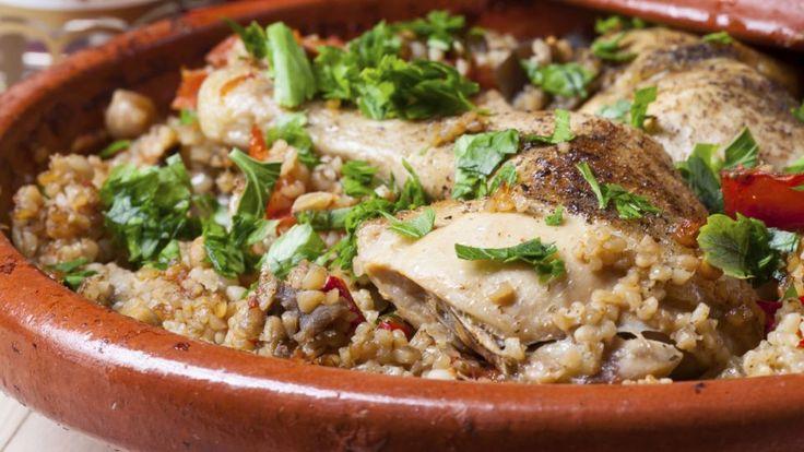 Marokko-kylling, radicchiosalat med stegte kikærter | Mad