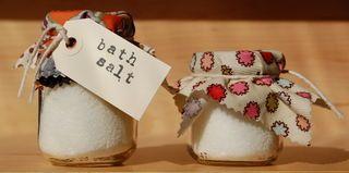 Bath salts in Baby food jars.