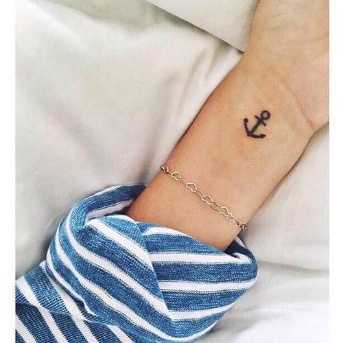 small anchor tattoo #ink #YouQueen #girly #tattoos