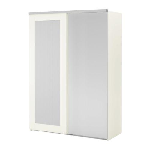 Elg 197 Wardrobe With 2 Sliding Doors White Aneboda Fenstad