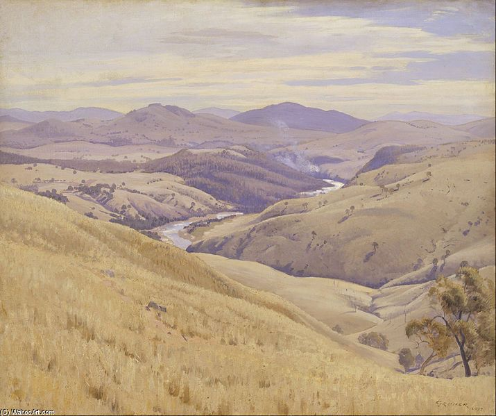Weetangera, Canberra de Elioth Gruner (1882-1939, New Zealand)