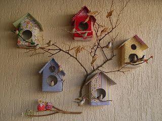 Festa, Sabor & Decoração: Casinha de passarinho: faça com papelão e caixa de leite