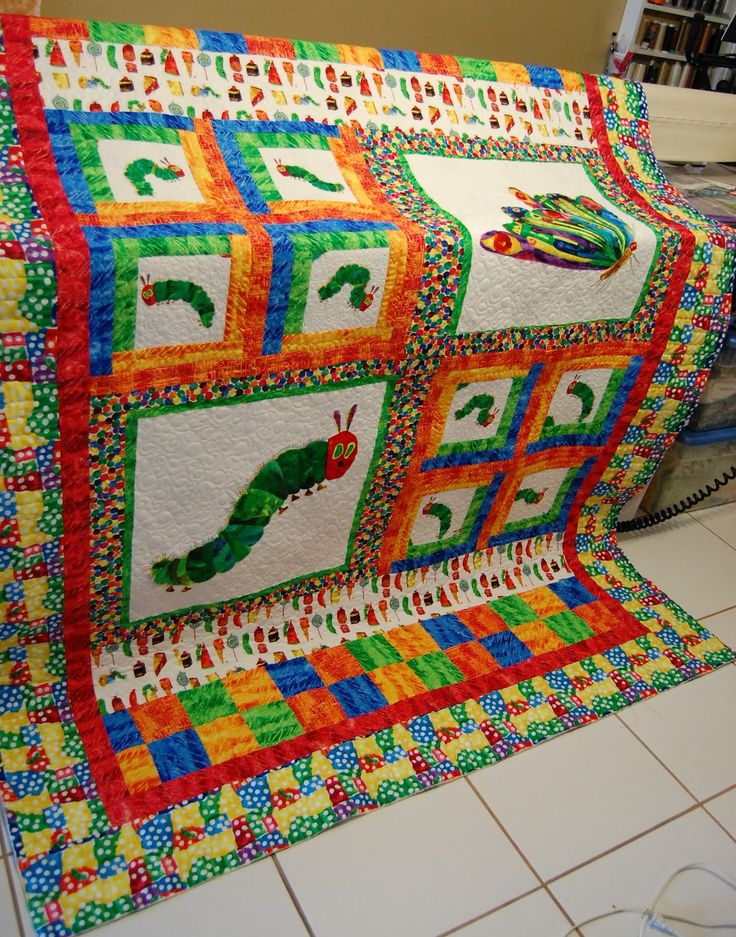 17 Best Images About Very Hungry Caterpillar Quilts On