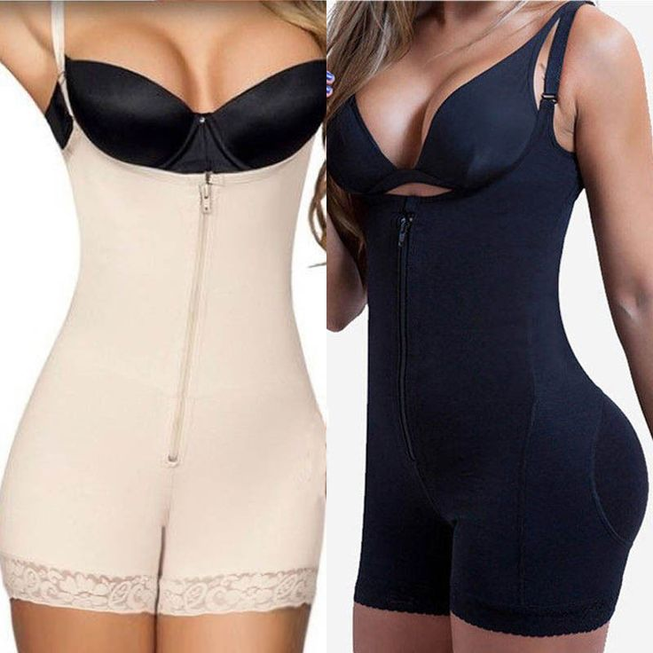 Women Latex Full Body Shaper Waist Trainer Cincher Underbust Corset Shapewear AM