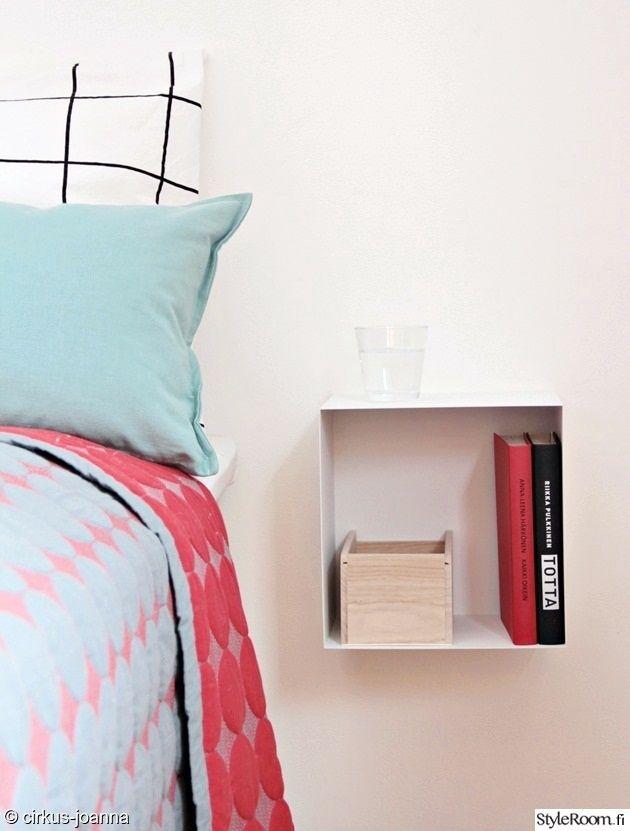 yöpöytä,makuuhuone,minimalistinen,scandinaavinen,pelkistetty