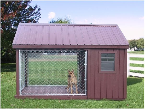 diy doghouse from pallets | Delightful Doghouse Digs | HomeJelly