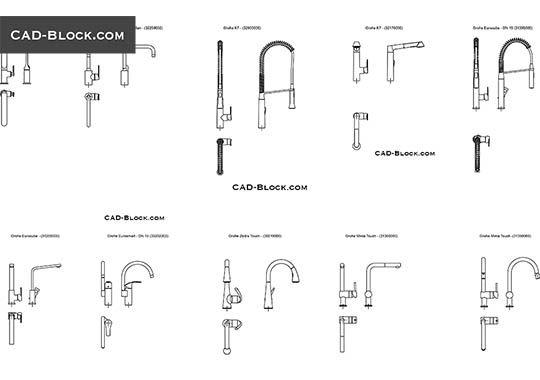 Kitchen Faucets Free Autocad Blocks Kitchen Faucet Faucet