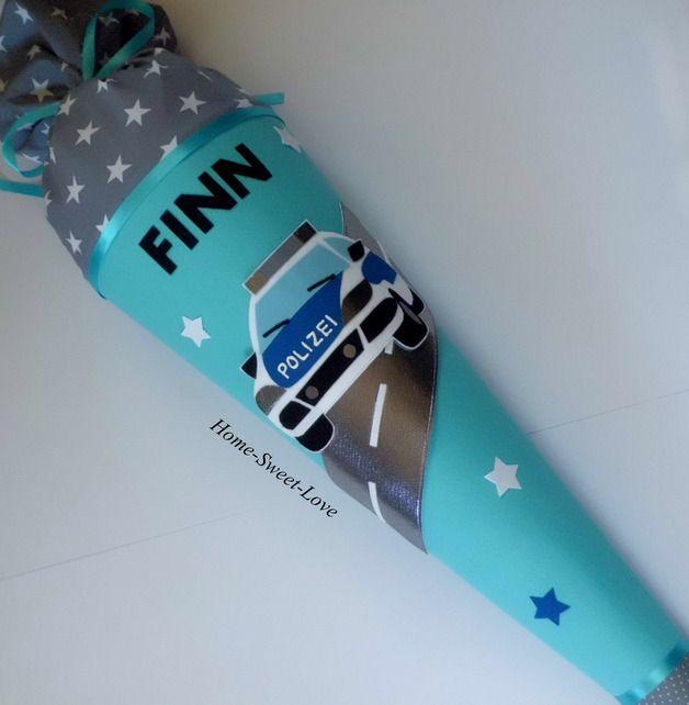 """Schultüten - Schultüte """" Polizei 1 """" - ein Designerstück von Home-sweet-love bei DaWanda"""