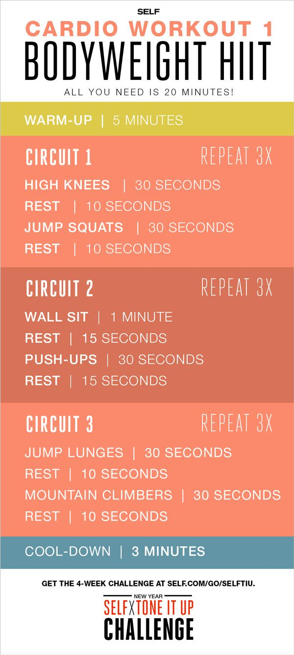 Self x Tone It Up Challenge – Cardio Workout 1: Bodyweight HIIT