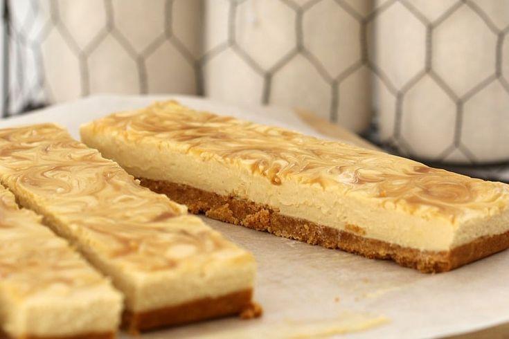 Salted Caramel Cheesecake Slice