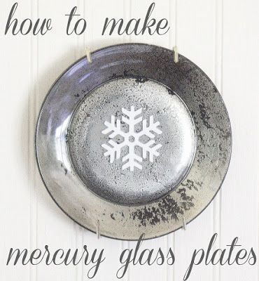 How to make mercury glass plates {The Shabby Creek Cottage}