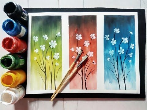 Easy Poster Colour Painting Ideas Tutorial Youtube Poster Color Painting Abstract Art Painting Watercolor Paintings Easy
