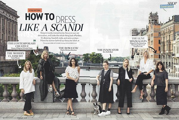 "Marlene Abraham of Mayla feautured  in Red Magazine ""How to dress like a scandi"""