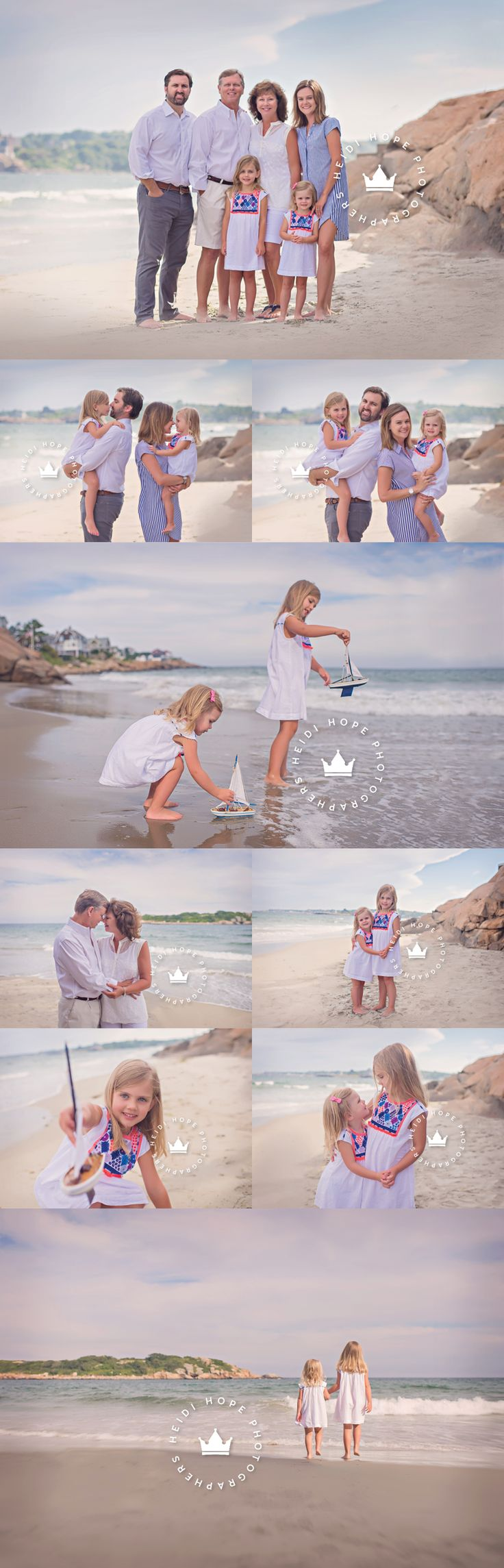 Blog | Heidi Hope Photography Extended family session with sweet sisters on beautiful Massachusetts beach where generations have spent their summers.