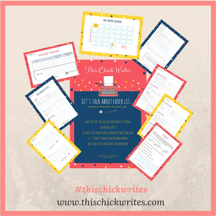 "ow to write a novel in a month""?? Look, I'm a bit skeptical about this kind of things, but well, why not? Thinking of #NaNoWriMo? Check this out. This Chick Writes challenge workbook ~ #thischickwrites #amwriting #wannabeawriter #creativewriting #chicklit #romanticcomedy"