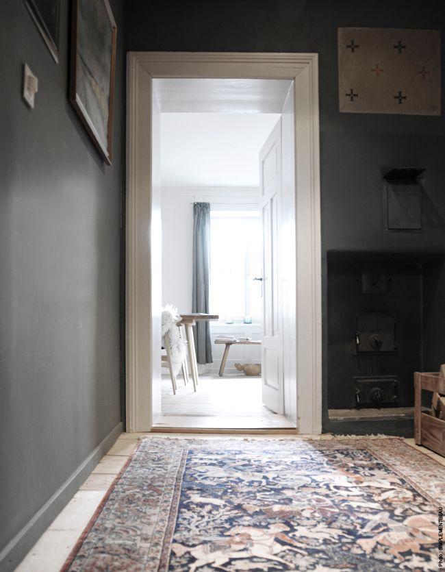 1000 id es sur le th me murs gris fonc sur pinterest murs gris gris et ch - Couloir gris anthracite ...