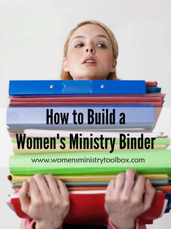A list of everything I put in my Women's Ministry binder. Key for staying organized!