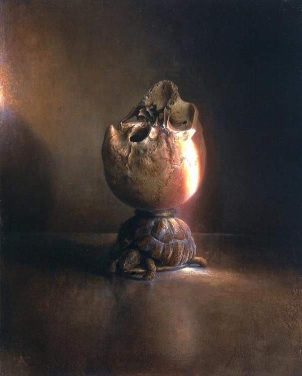 """My favorite part of this painting is the turtle. :) """"il male di vivere II"""" by Agostino Arrivabene"""