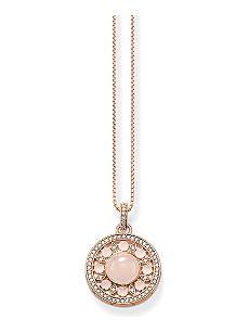 THOMAS SABO Glam & Soul rose gold-plated, zirconia-pavé and quartz necklace