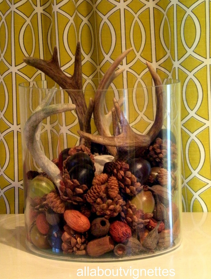 17 best images about fall decorating on pinterest for Antlers decoration