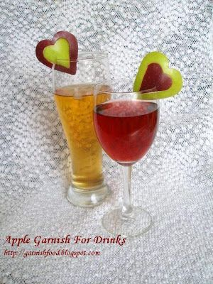 How to make apple garnish edible garnishes pinterest for Easy fruity mixed drinks