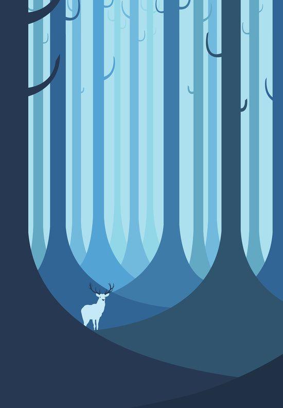 Blue forest idea (Bear instead)