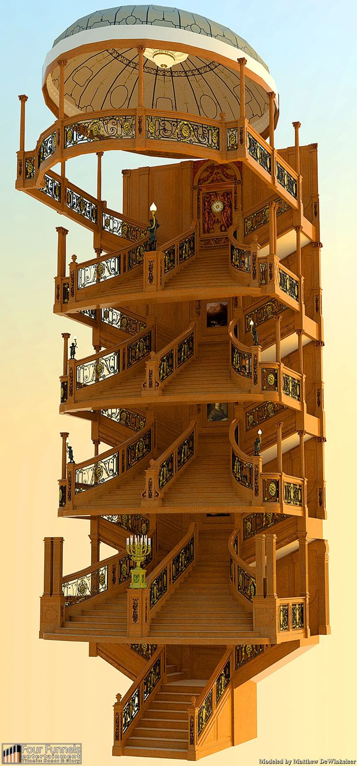 Levels of the grand  staircase
