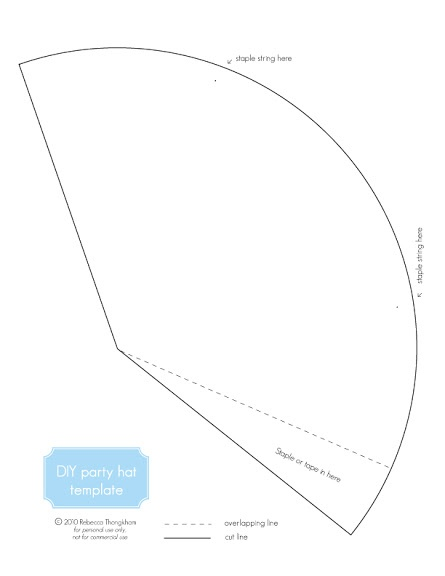 DIY Party Hats + Free Printable | Lavender's Blue Designs