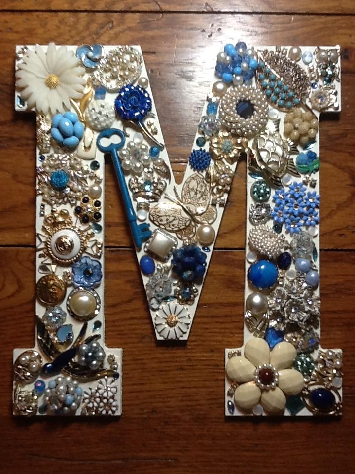 Vintage Bling Monogram Www Sassysistersjewelry Etsy Com