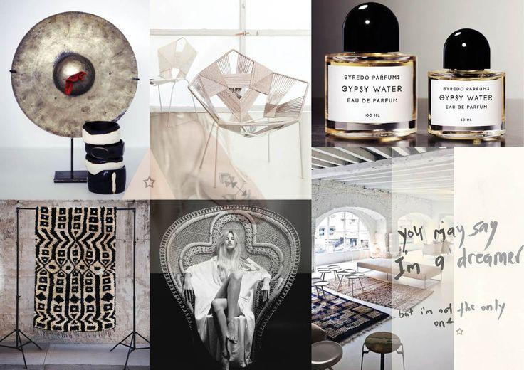 BLOGGED: Interior moodboard 'A bohemian chic loft' ✭ #interior #styling #inspiration #moodboard