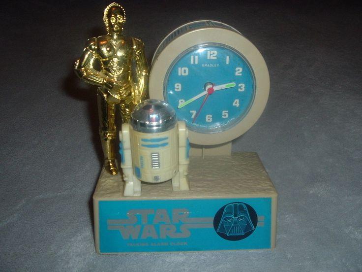 1980 Star Wars Empire Strikes Back Bradley Talking Alarm Clock,Tics & Talks!